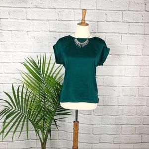 The Limited | Emerald Green Silk Top